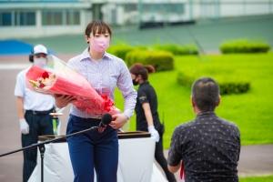 7月30日 久留米競輪 児玉碧衣の通算300勝表彰式