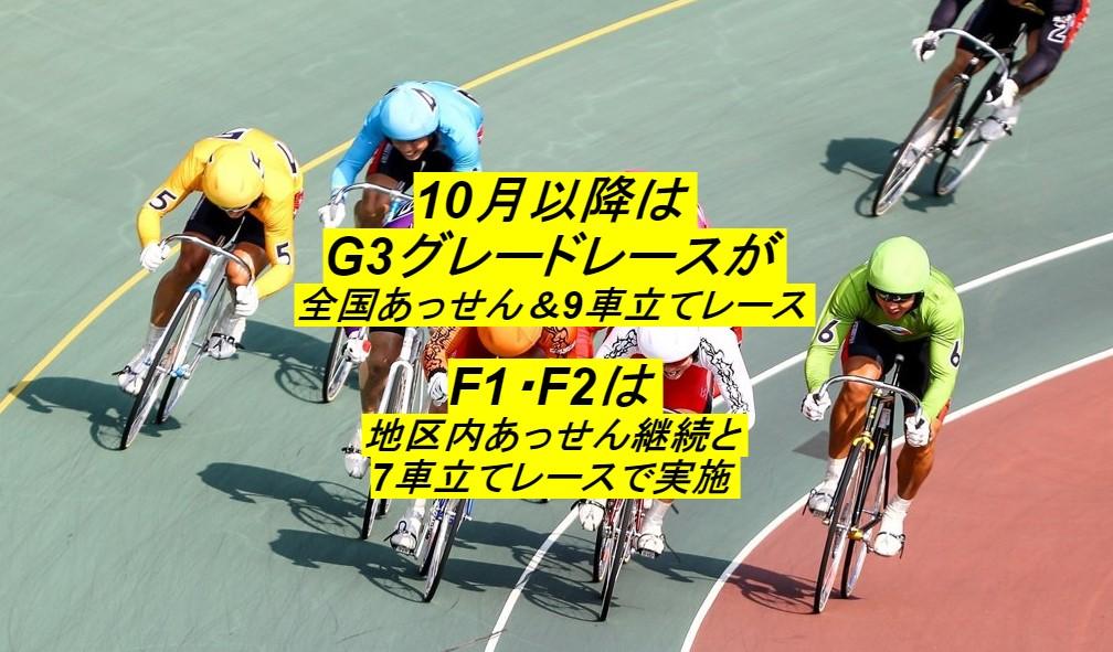 10月以降の競輪番組編成の変更